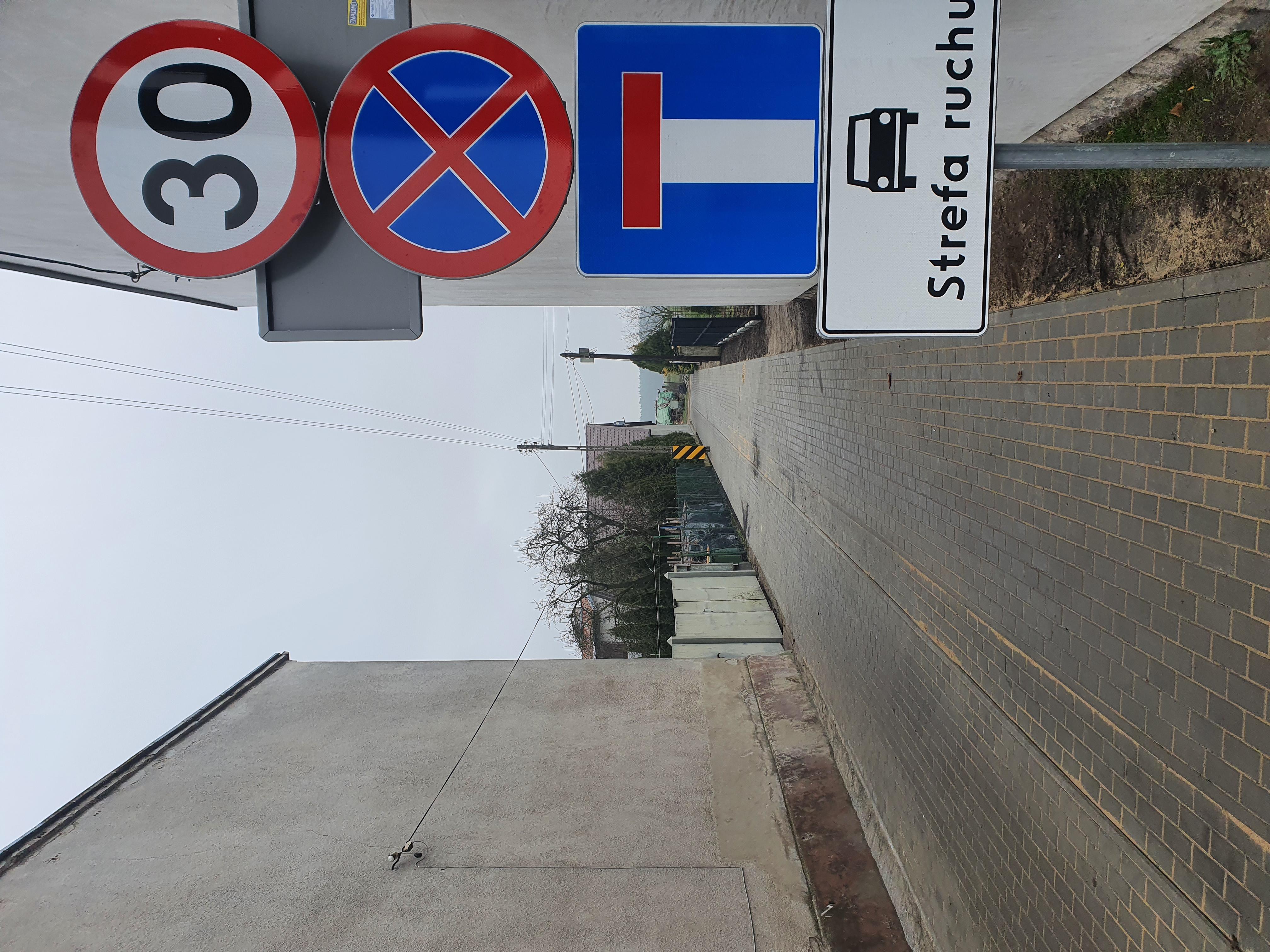 Droga wewnętrzna na ul. Świeckiej