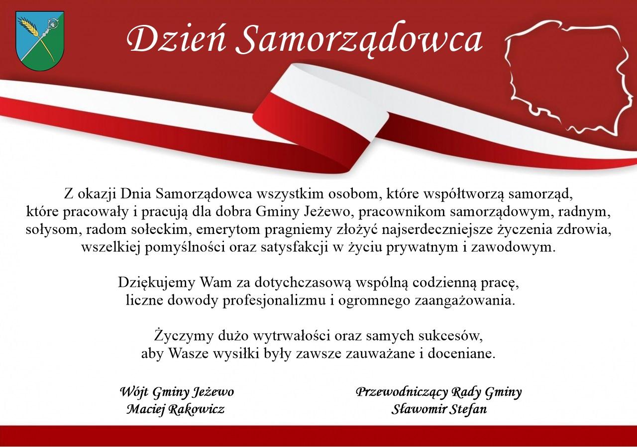 Życzenia z okazji Dnia Samorządowca
